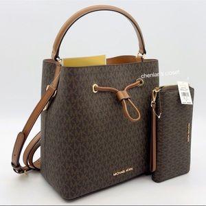 💖NeW! Michael Kors Suri LG Bucket Bag Set